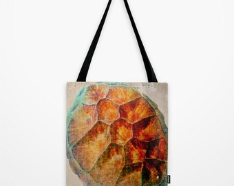 Tote Bag Sea Turtle Shell Texas Art Bag