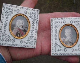 Pair Of Miniature Pictures