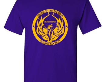 ORDER Of The PHOENIX Secret SOCIETY - t-shirt short or long sleeve your choice!