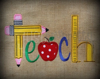 Teach Embroidery Applique Design