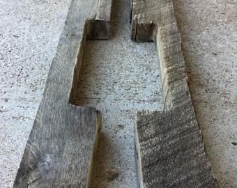 Reclaimed Pallet 2x4's Set of Two - Reclaimed Wood Boards - Reclaimed Lumber - Dismantled Pallet Wood