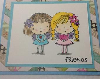 4 Cards - FRIENDS, SISTER, Sister Friend, ANGEL Friend, Girlfriend, Handmade Card