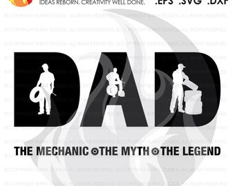 Digital File, Fathers Day Mechanics Gift, Mechanic, Dad, Automotive, Wrench, Mechanic SVG, Mecanic Decal Art