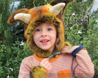 TUTORIAL -- Wild Thing Faux Fur Hat Pattern Ears Horns for Babies Children Adult