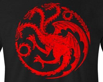 Game of Thrones Shirt, Game of Thrones Targaryen Tee, Game of Thrones Targaryen T-Shirt, Game of Thrones Targaryen logo