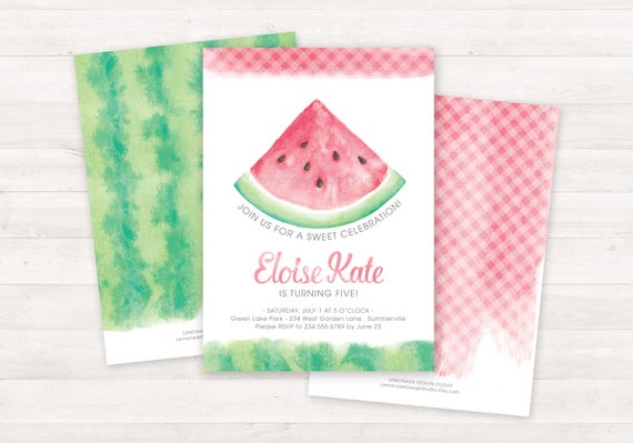 Watermelon Invitation Printable Birthday Invitations