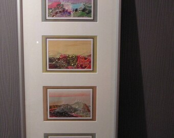 Four seasons textile art picture