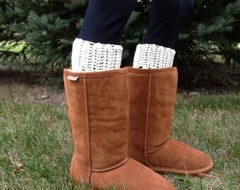Womens Boot Cuffs, Women's Boot Cuff, Boot Topper, Plain Boot Cuffs - ANY COLOR