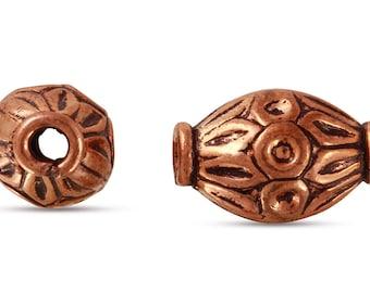 5 Pcs 8x12 mm Copper Bali Style Oblong Beads (CP5001018)