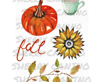 Autumn Images Digital Download, Planner Images, Card Making, Autumn Collage sheet, Ephemera, Fall Art, Art Journaling, Autumn Planner Images