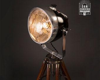 Motorcycle Headlight Floor Lamp