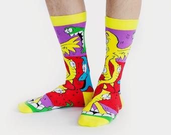 Funky Cotton Socks | Colorful socks | Unusual socks | Crazy socks | Designer socks | Women's socks | Men's socks | Cool socks