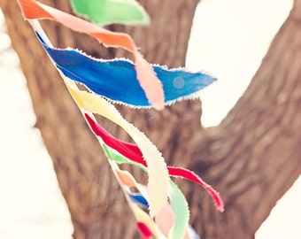 Colorful Bunting - 8x10 photograph - Summer Photo - fine art print - vintage photography - nursery room art - whimsical