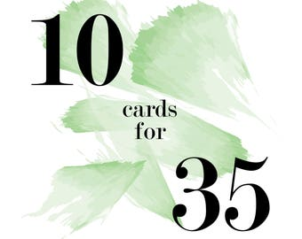 Mix and Match Cards - 10 for 35