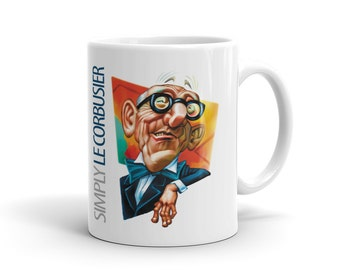 Simply Le Corbusier White Ceramic Mug