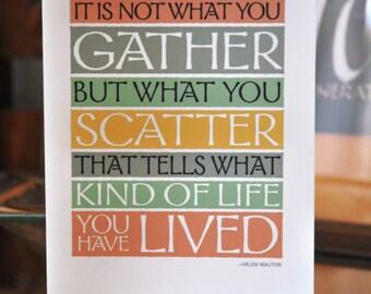 Quote Card – Inspirational – H. Walton – A2 – Blank inside – Cheryl Puckett design