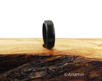 Ebony Wood Ring