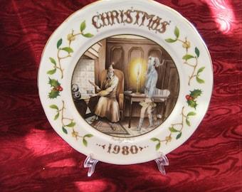 Aynsley Christmas Plate 1980 Marley's Ghost