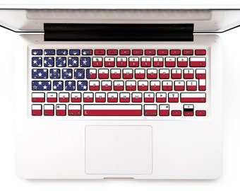 Macbook decal Macbook keyboard stickers Macbook Decal Keyboard Sticker Macbok Air Pro Retina HP Lenovo Samsung American USA Flag # USA