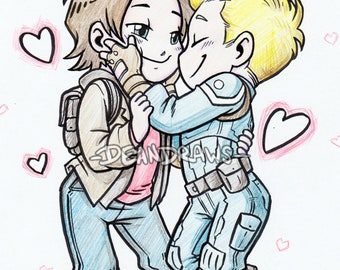 Stucky nuzzles chibies (Print)
