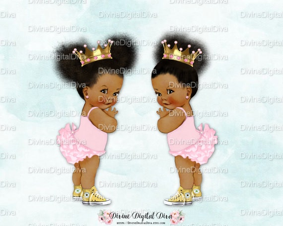 ruffle pants natural hair pony tails afro puffs light pink