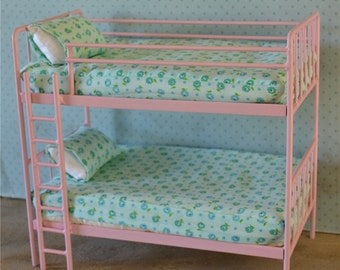 Doll Bunk Bed Miniature Metal Bed Playscale, Barbie, Blythe