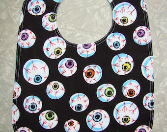 Eyeball Print cotton baby bib /Eyeball bib / Halloween bib