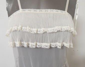 Vintage  Nylon Chiffon Long Nightgown #124