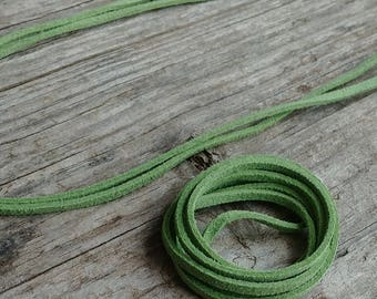 """Kiwi SUEDE Cord (3mm) for Jewelry Crafting 36"""" L"""