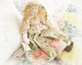 OOAK Art Doll Cloth Doll CAROLINE 17 inch Handmade CharlotteStyle SIGNED Soft Sculpture