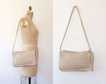 vintage leather purse / stone leather bag / Leather shoulder bag