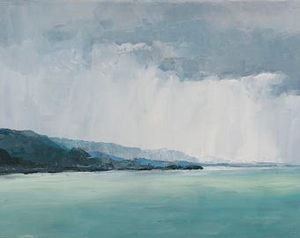 Art card print- Mountain and Rain-   by Lauriann Wakefield  of Bear Lake