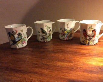 Song Bird Mugs - Set of 4