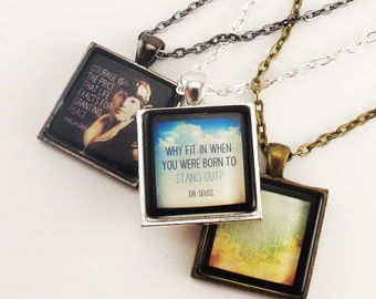 Custom Personalized Photo Necklace, Keepsake Jewelry, Personalized Memorial Jewelry