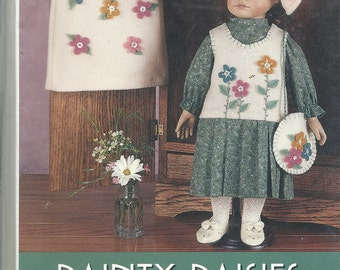 """Dainty Daisies  Pattern for 17-19"""" Doll    Uncut"""