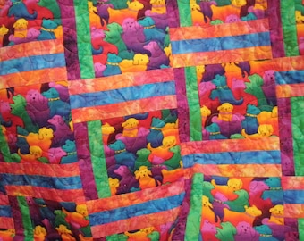 Twin Quilt Jewel Tone Batik JoJo's Puppies Handmade Quiltsy