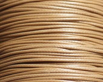 5 m - 1 wax cotton cord mm Beige - 4558550037725