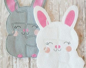 Easter bunny gift - Easter bunny toy - Easter bunny felt toy - Easter basket stuffer - felt toys for kids - educational toys for kids