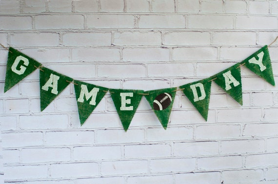 Game Day Football Banner Super Bowl Decor Football Banner