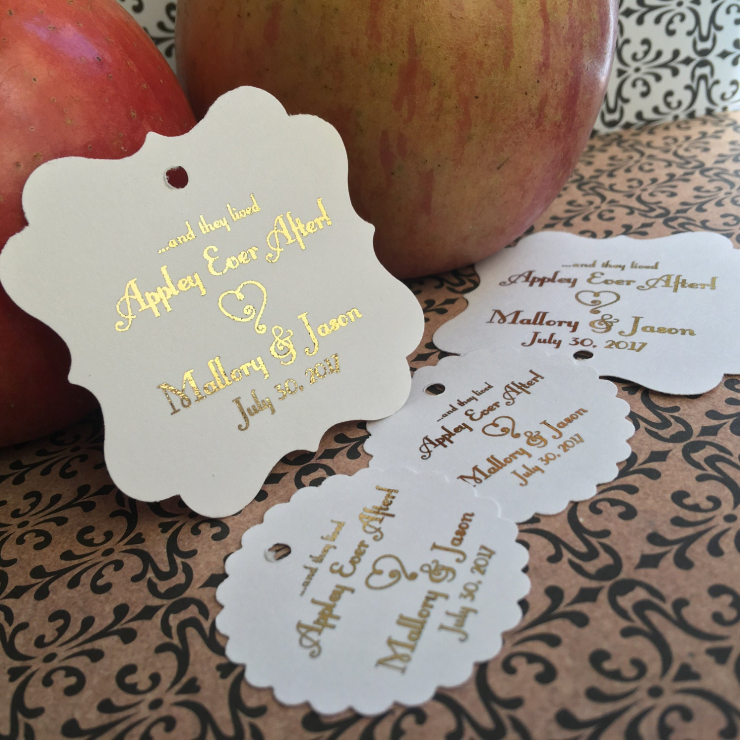 Wedding favor tags favor tags caramel apple favors appley
