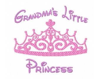 Grandma's Little Princess...Instant Download...Pattern Fill Machine Embroidery DESIGN  N0.799