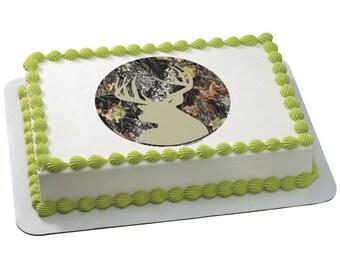 Mossy Oak® Break Up® Silhouette Edible Cake Topper