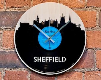 Sheffield Skyline Record Style Clock