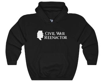 Civil War Reenactor Hooded Sweatshirt  Reenactment  History  Historical  Living History  Hoodie