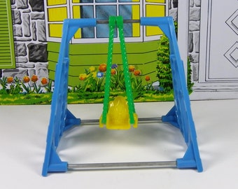MINIATURE SWING SET, Thomas-Acme, 1940's to 1950's Hard Plastic, Vintage Dollhouse, Toy