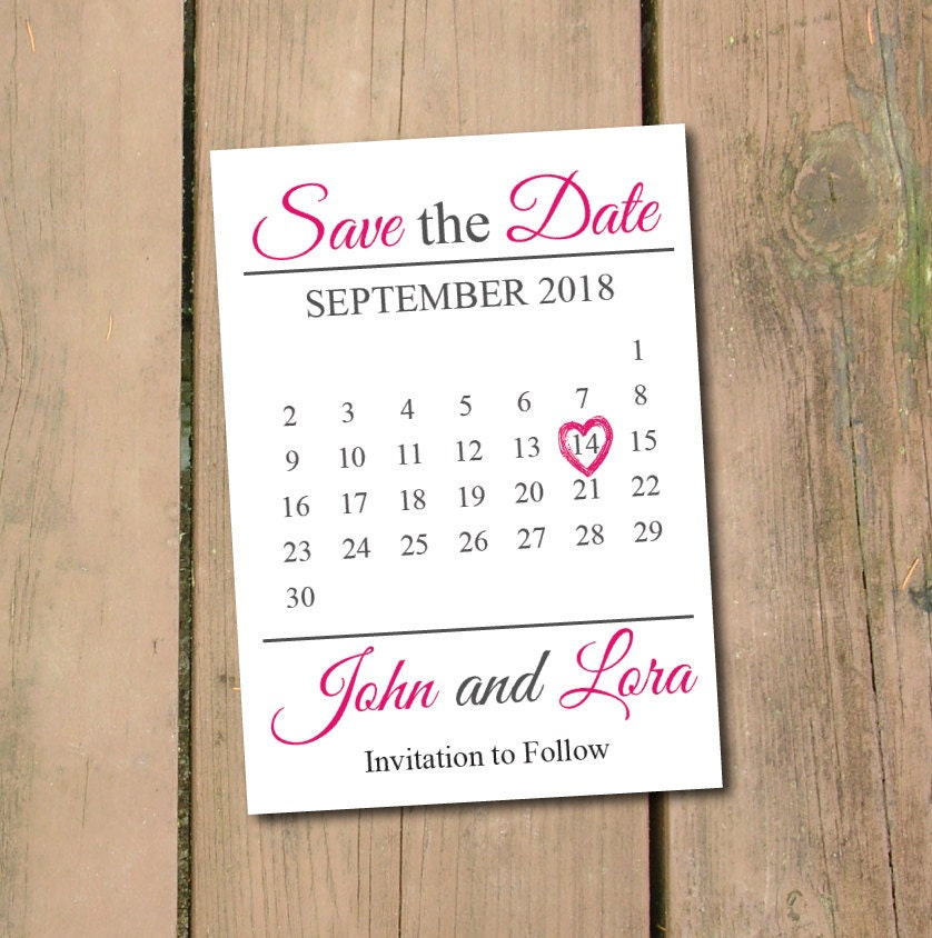 save the date calendar template save the date postcard. Black Bedroom Furniture Sets. Home Design Ideas