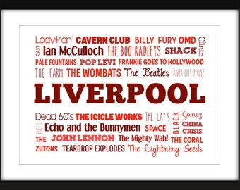 The Sound of Liverpool Unframed Typography Print