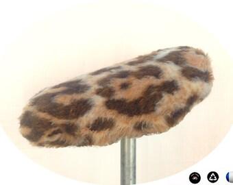 Cover for bike saddle, faux fur vintage, leopard