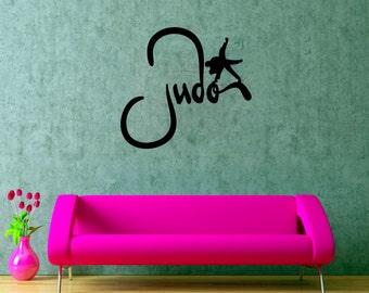 Judo Wall Decal Fighting Vinyl Sticker Martial Arts Decals Home Art Decor (2jo)