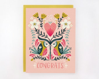 Lovebirds - Wedding/Engagement Card